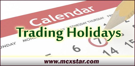 mcx Trading Holidays - 2016-17